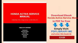pdf honda activa service manual d0wnlo4d video dailymotion