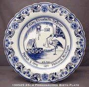 birth plates personalized birth tile look personalize tile birth and delft