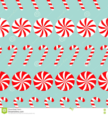 christmas round white and red sweet set candy cane seamless