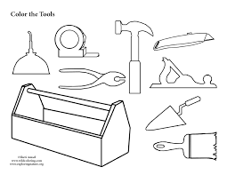 Tool Collection Coloring Page Tools Coloring Page