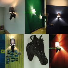 led living room light wall sconce modern style horse face wall