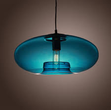 colored glass pendant lights american modern glass pendant liights with blue round lamp shade