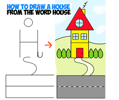 house to draw how to draw a cartoon house from the word house an easy word