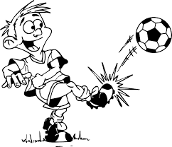 kick a ball kids playing football coloring page wecoloringpage