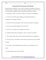 free printable capitalization and punctuation worksheets worksheets