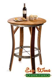Steel Bistro Chairs Wine Barrel Furniture Table