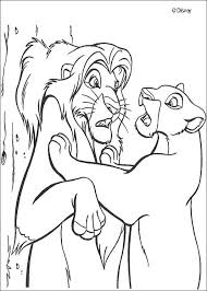 nala finds simba coloring pages hellokids