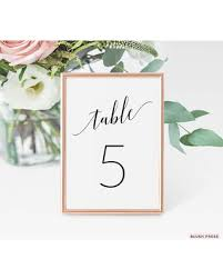 wedding table numbers template sale table number cards table numbers template printable