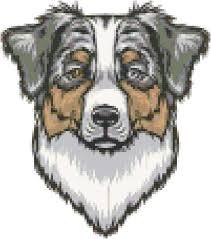 australian shepherd fabric australian shepherd dog breed cross stitch pattern and
