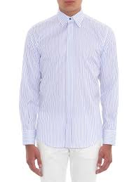martini stripe dolce u0026 gabbana martini fit striped cotton shirt in white for men