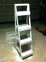 white ladder bookcase white 5 tiered ladder shelf bookcase display