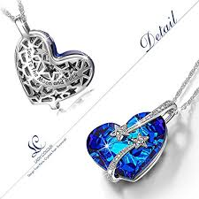 swarovski heart necklace blue images The shoe club lady colour venus blue heart pendant necklace jpg