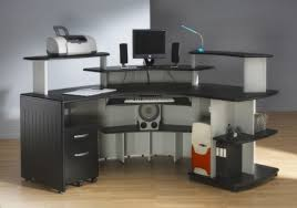 Computer Workstation Desk And Cozy Computer Workstation Desk All Home Ideas Decor
