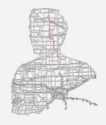 Michigan Road Map by Cut Road Map U2014 Nikki Rosato