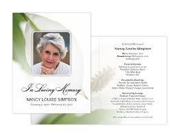 memorial card memorial cards memorial programs and memorial bookmarks