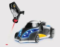 remote control car lights infrared tracker remote control car is guided by light slashgear