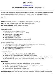 Resume Sample For College by Student Resume Templates For College University Or High
