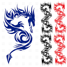 tattoo pictures download asian dragon tattoo pattern royalty free vector clip art image