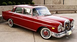 classic red mercedes fintail in lovely red with white walls u2026 and factory sunroof