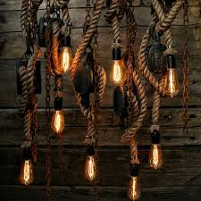 Hanging Industrial Lights by The Set Sail Pendant Light Rustic Wooden Barn Pulley Lamp