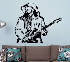 compare prices on classic music vinyl online shopping buy low stevie ray vaughan wall sticker guitarist vinyl decal american music decor bar club dorm home room