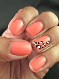 coral color nail designs choice image nail art designs