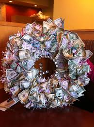 wedding gift of money money wreath for wedding gift money wreaths