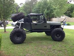 jeep rock crawler buggy jeep wrangler 2 door 1991 od green for sale 2j4fy29s8mj156648 1991