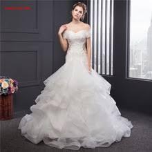 popular cascading ruffle wedding dress buy cheap cascading ruffle