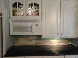 stone backsplash ideas for kitchen stacked stone backsplash with whiteabinets bathroom kitchen ideas