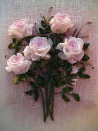 silk ribbon roses pin by tom pollock on pink ribbon embroidery