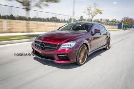 gold color cars misha designs u0027 cls pulls off burgundy and gold mbworld