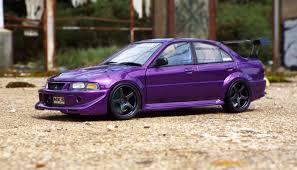 velvet car mitsubishi lancer evo 6 purple velvet dx modelwerks showcase