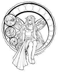 stained glass fairy lineart by emilycammisa on deviantart