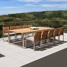 Teak Outdoor Dining Table And Chairs Royal Botania Ninix Teak Outdoor Dining Table Home Infatuation