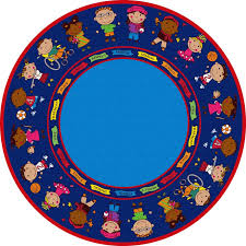 Circle Area Rug Kid Carpet Friends Blue Circle Area Rug Reviews Wayfair