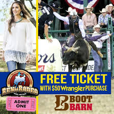 Boot Barn Reno Reno Rodeo Tickets 2017 When You Buy Wrangler Jeans From Local