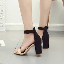 u0026 gold block heel ankle strap sandals