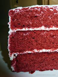 layered red velvet cake with creme fraiche frosting recipe