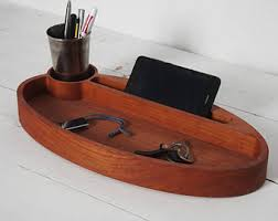 Wood Desk Accessories And Organizers Wood Desk Organizer Etsy
