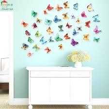 home decor 3d stickers big butterfly flowers vinyl wall stickers home decor diy living room