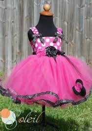 pink minnie mouse tutu dress in black and white by scbydesign