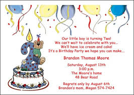 boy 2nd birthday invitations cards 5503cs bt