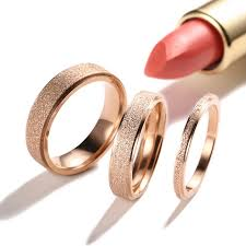 gold bands rings images 2mm 4mm 6mm frosted rose gold titanium steel wedding band rings jpg