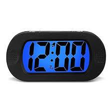 night light alarm clock hense large lcd display digital smart light alarm clock snooze