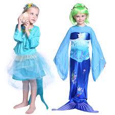 kids girls mermaid siren princess party fairytale fishtail fancy