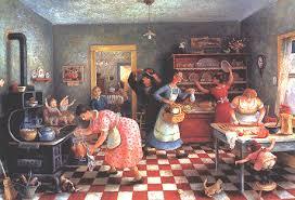 Thanksgiving Window Paintings Doris Lee