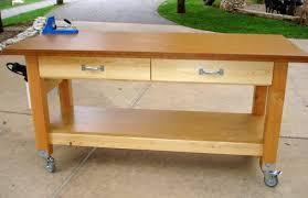 garage workbench build this simple workbench with drawers