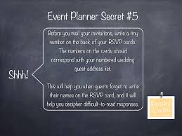event planner secret number your rsvp cards howerton wooten events