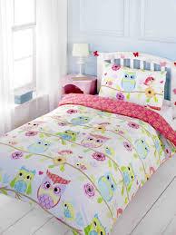 Childrens Cot Bed Duvet Sets Childrens Owl Friends Birds Flowers Duvet Cover Quilt